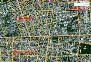 نقشه تهران map.tehran.ir
